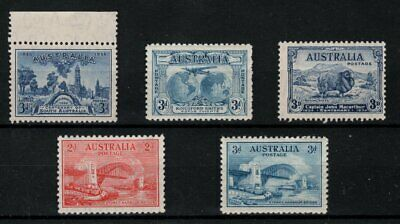Australia- Mint Never Hinged values from 1930s commemorative issues.