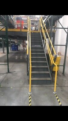 Wildeck Mezzanine Steel Stairs With Rails For Building Steps Metal