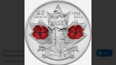 2010 Canadian 25 Cent Roll 40 Coins WWII 65th Anniversary Quarter Colorized