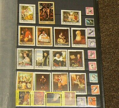 Manama Lot of 28 Different Cancelled Stamps #5066