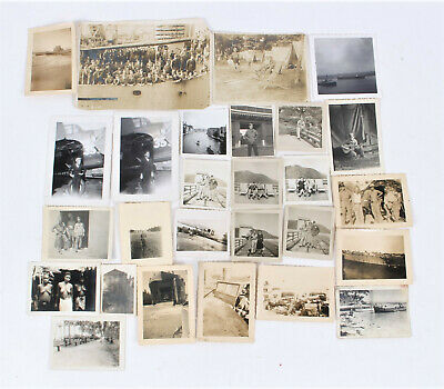 Wwii Us Soldiers Personal War Photo Mixed Lot Of 27