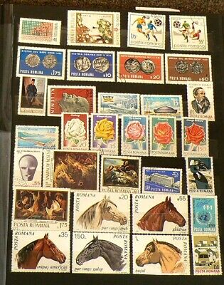 Romania lo of Over 195 Cancelled Stamps #5438