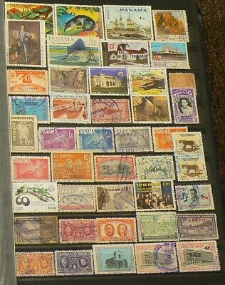 Panama Over 135 Cancelled Stamps #5181