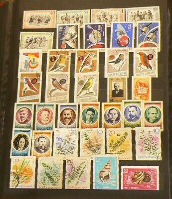 Romania Over 320 Cancelled Stamps #5317