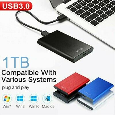 1TB USB 3.0 External Hard Drive Disks HDD 2.5'' Fit For PC Laptop Portable UK
