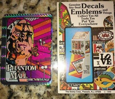 Phantom of the Mall Rare HTF Vintage Horror Prism Vending Sticker with Package