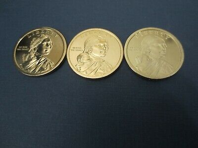 2020 P, D, S PROOF CAMEO Native American SACAGAWEA DOLLAR SET ALL THREE COINS.