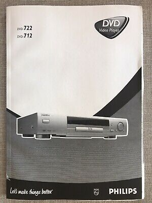 Philips DVD722 and DVD-712 dvd player Genuine Original Operators Manual