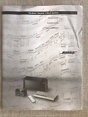 Bose Lifestyle 3 Music system owners guide English / Spanish / French