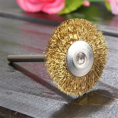 1/4/10/18Pcs 25mm Brass Wire Wheel Polish Brushes for Rotary Grinder Accessories