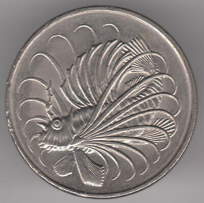 Singapore 50 Cents 1977 Copper-nickel Coin - Lion Fish