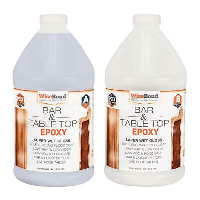 Details about  1 Gallon Clear Epoxy Bar Table Top Glass Wood And Concrete Count