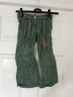 Girls Khaki Green Thin Trousers Age 5 Years Next