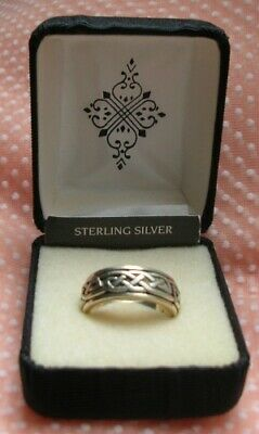PETER STONE PSCL Sterling Silver Celtic Knot Spinner RING Size 6.5