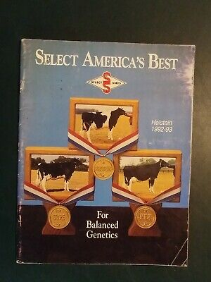 """1992-93 Select Sires Inc. Holstein Dairy Cattle Sire Directory - """"Blackstar"""""""