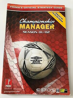 Championship Manager 01/02 Official Strategy Guide Book - Prima - Eidos