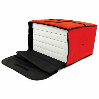 """Large Red Pizza Bag HOLDS 5 16""""  Insulated Food Delivery Handle Box backpack"""