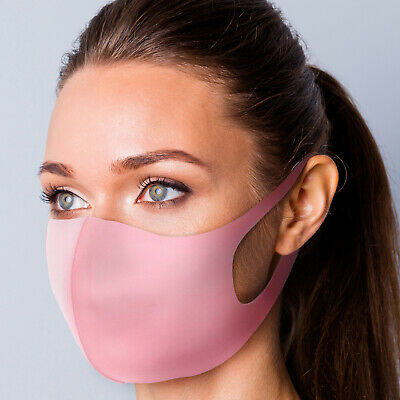 Breathable Cotton Pink Face Mask Unisex Reusable Cycling Washable Protection UK