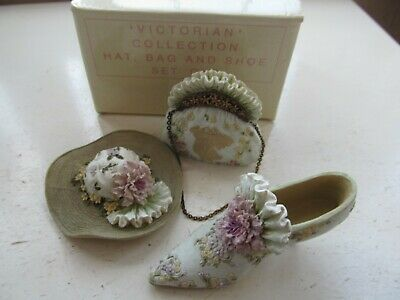Avon Victorian Collection Hat, Bag And Shoes - Set One