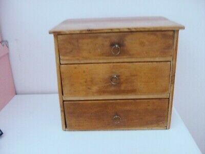 Rustic Victorian Pine Miniature chest of drawers with dove-tailed joints