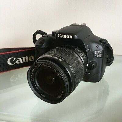 Canon EOS 550D 18.0MP Digital SLR Black Camera with EF-S IS 18-55mm Lens