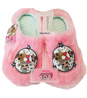 LOL Surprise Dolls Girls Slippers House Shoes Pink Plush Size Small 11-12
