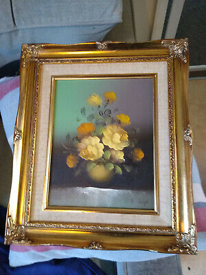 oil painting by s leigh in a gold wooden frame
