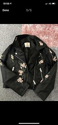 girls faux leather jacket 10-11yrs