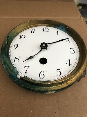 Victorian Enamel Clock Dial And Hands