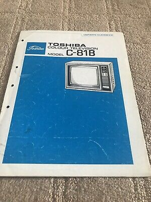 Toshiba C-818B Owners manual Guide For Television