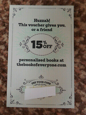 PERSONALISED BOOKS, 15% OFF / DISCOUNT CODE - Save from approx £3.60 - GIFT IDEA
