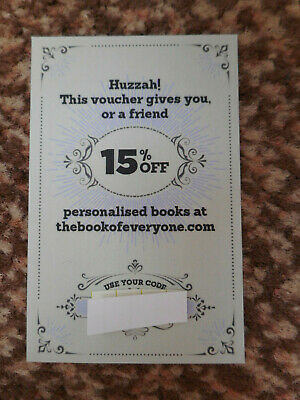 PERSONALISED BOOKS, 15% OFF / DISCOUNT CODE Save from approx £3.60 - GIFT IDEA ?