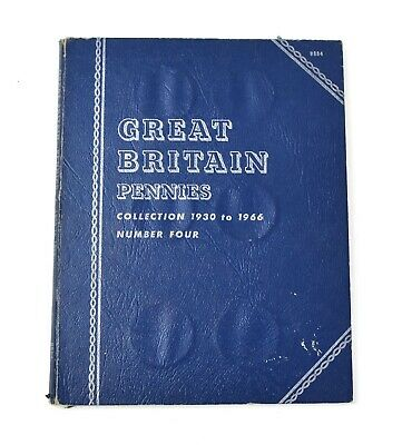 Whitman Folder Great Britain Pennies 1930 to 1966 23 Coin Collection