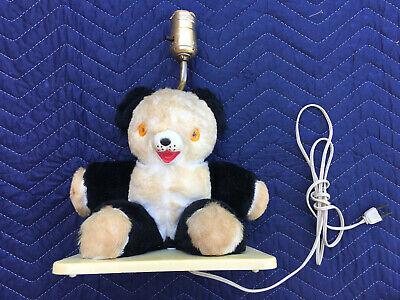 "Vintage Teddy Bear Nursery Lamp-Child Night Light-Rubber Faced-12""-Griffin-RARE"