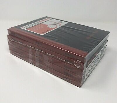 "Five BLACK n' RED Ruled Casebound NOTEBOOK Book MADE in UK Red Ribbon 8+"" X 5+"""
