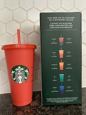Starbucks 2020 Color Changing SINGLE Cold Cup Tomato Red New