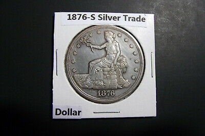 1876-S Seated Liberty Silver Trade Dollar