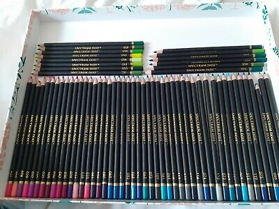 Spectrum noir colourblend pencils - approx. 63 purples/pinks/blues/greys/greens