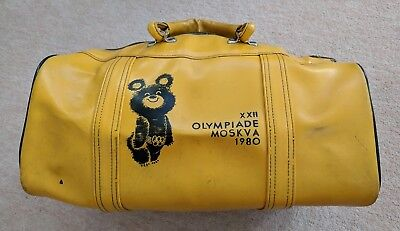 Gym Bag from 1980 Moscow XXII Olympic Games Misha Bear Mascot