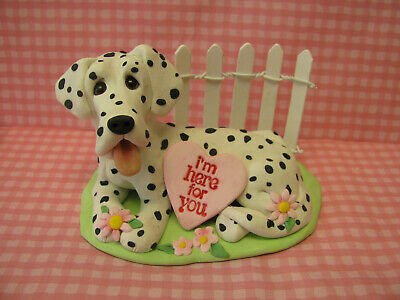 "Handsculpted Dalmatian Dog ""I'm here for you"" Figurine"