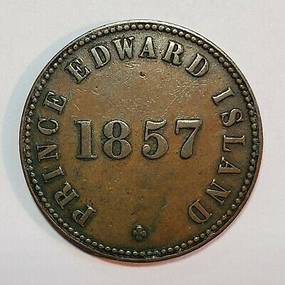 1857 Prince Edward Island Canada Self Government And Free Trade Token!! BR-919!!