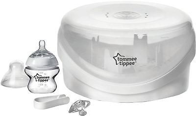 Tommee Tippee CLOSER TO NATURE MICROWAVE STERILISER Baby Bottle Feeding BNIB