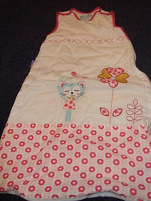 the GRO baby grobag age 6months  poppers to top and zip all round