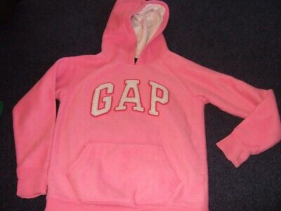 Pink fleecy GAP hoodie with pocket to front age 10 - 11