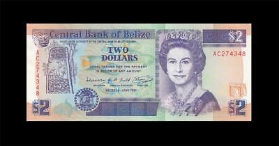 1.6.1991 British Colony Belize Qeii $2 **Ac** (( Gem Unc ))