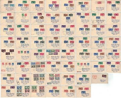 Set of 61 British Commonwealth King George VI Coronation Covers - FREE UK POST