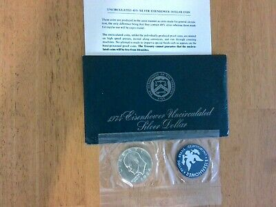 1974-S Eisenhower Uncirculated US Silver Dollar Coin – 40% Silver