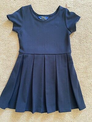 Polo By Ralph Lauren Girls Navy Blue Dress - Size 5 (4-5 Years)