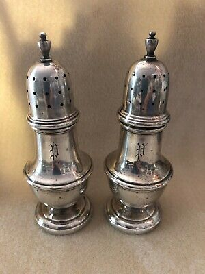 Beautiful SHREVE Crump And Low STERLING SILVER Salt & Pepper Shakers