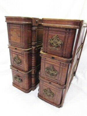 ANTIQUE SINGER SEWING MACHINE OAK 6 DRAWERS in FRAMES